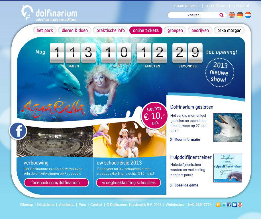 Klanten en projecten Zo! Online Marketing - Dolfinarium