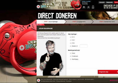 Klanten en projecten Zo! Online Marketing - Serious Request 2012