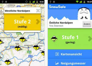 snowsafe app - screenshot