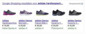 Google Shopping - adidas hardloopschoenen