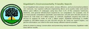 Gigablast - de groene zoekmachine