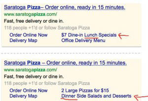 Google Adwords scheduled sitelinks