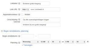 Google Adwords voorbeeld plannen sitelinks
