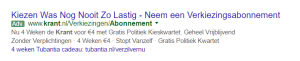 Google Adwords ETA Krant