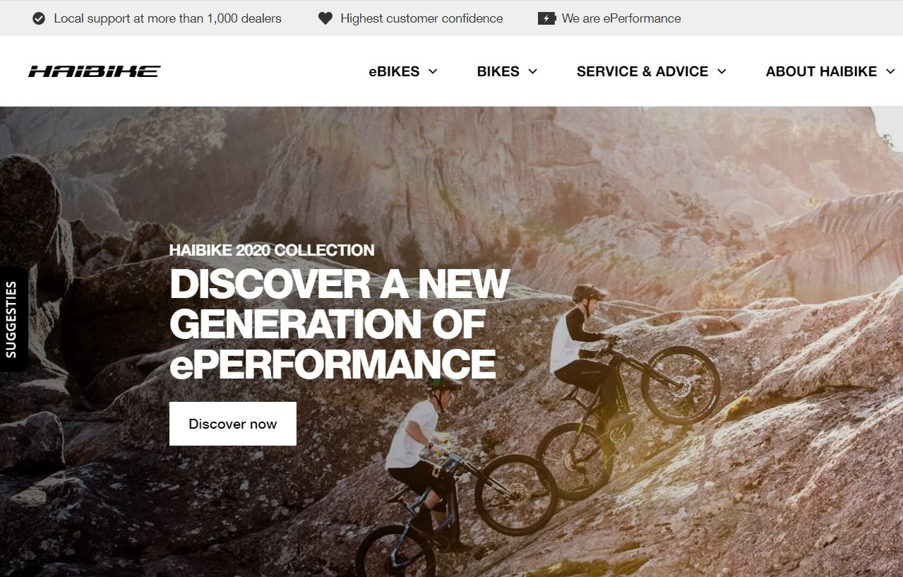 Haibike bikes and mountainbikes 2020