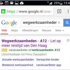 Google Adwords mobiele sitelinks
