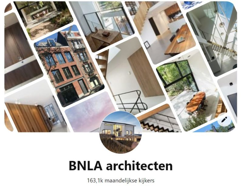 BNLA Architecten - Pinterest account