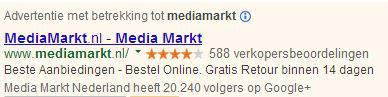 Google Adwords - seller ratings en social extensie