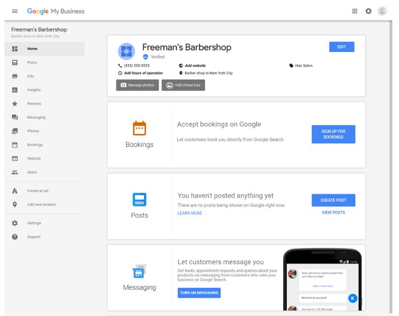 Google My Business - conversie acties